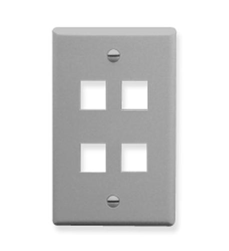 icc ic107f04gy - 4port face - gray