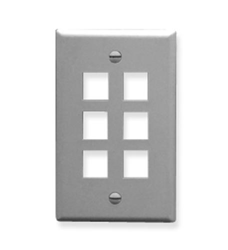 icc ic107f06gy - 6port face gray