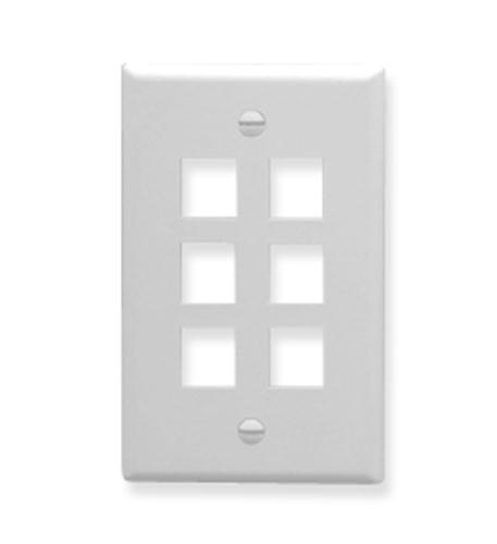 icc ic107f06wh- 6port face white