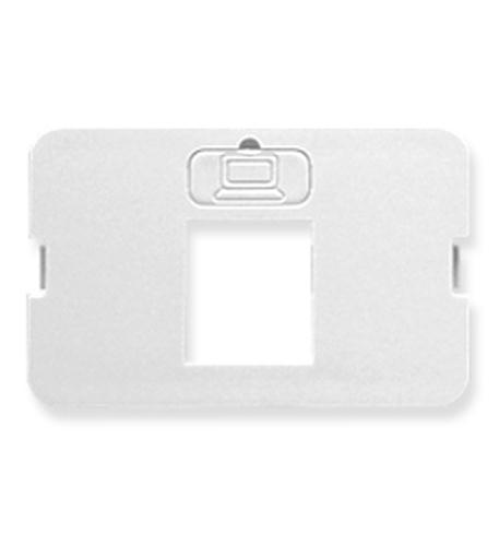 icc bezel, elite, flat, 1-port, white