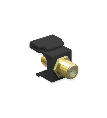 icc module, f-type, gold plated, black