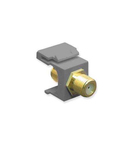 icc module, f-type, gold plated, gray