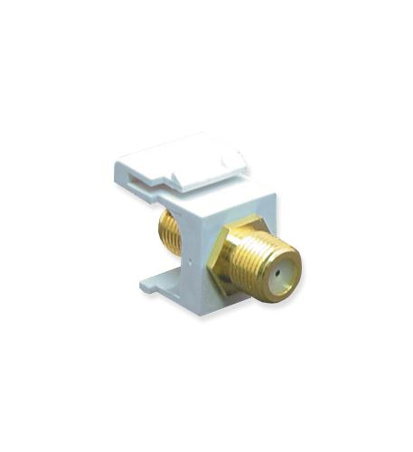 icc module, f-type, gold plated, white