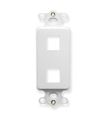 icc insert, decorex, 2-port, white