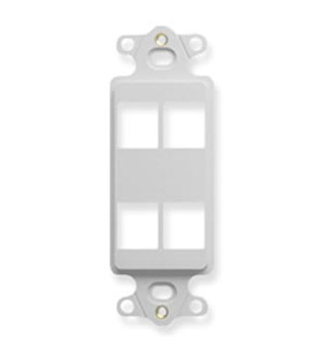 icc insert, decorex, hd, 4-port, white
