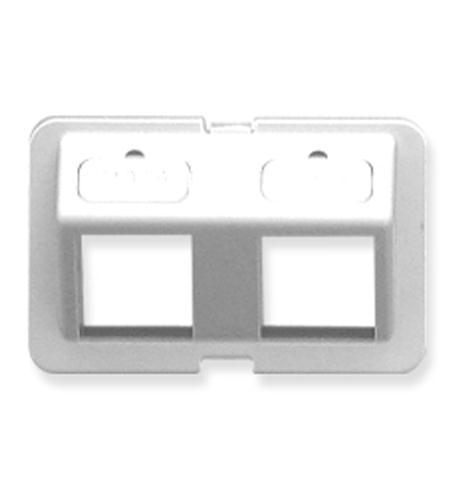 icc bezel, elite, angled, 2-port, white
