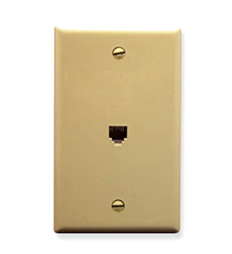 icc wall plate, voice 6p6c, ivory