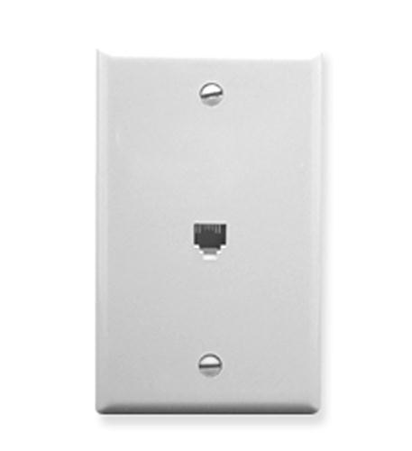 icc wall plate, voice 6p6c, white