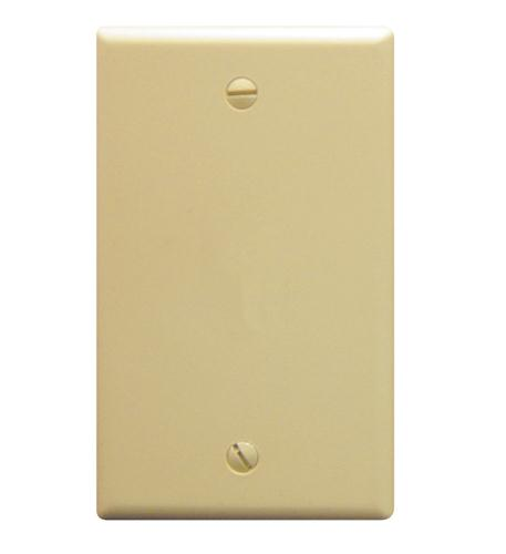 icc flush wall plate blank ivory