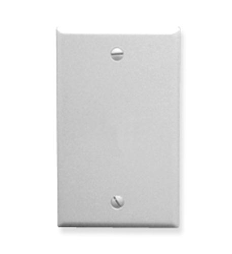 icc flush wall plate blank white