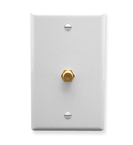 icc wall plate, f-type, white