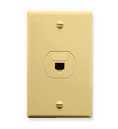 icc wall plate, designer, voice 6p6c, ivory