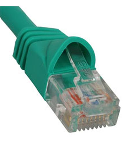 icc patch cord, cat 5e, molded boot, 5' gn