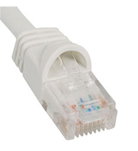 icc patch cord, cat 5e, molded boot, 5' wh
