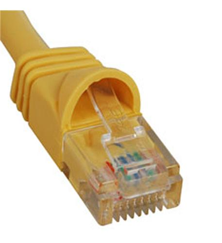 icc patch cord, cat 5e, molded boot, 5' yl