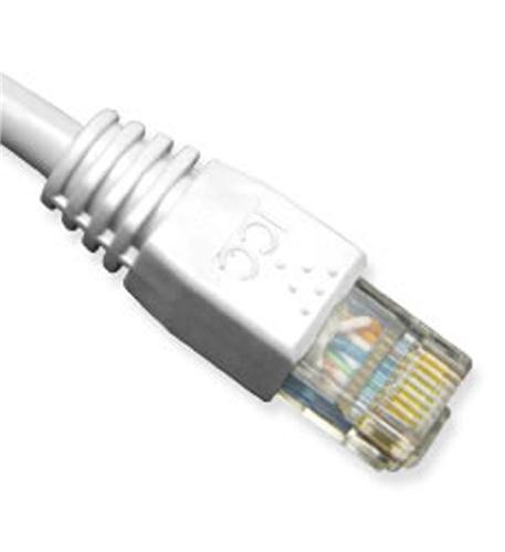 icc patch cord, cat 6, molded boot, 3'  wh