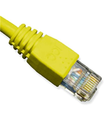 icc patch cord, cat 6, molded boot, 3'  yl