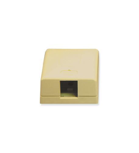 icc ic107sb1iv  surface box 1pt ivory