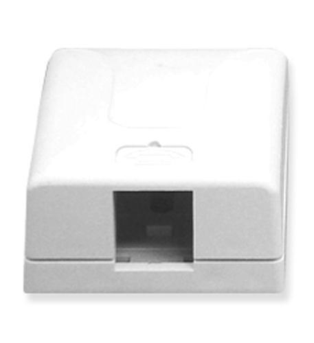 icc ic107sb1wh - surface box 1pt white