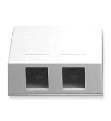 icc ic107sb2wh - surface box 2pt white