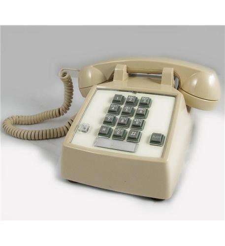 cortelco 250044-vba-27f desk w/ flash/message ash