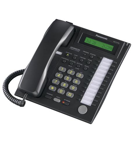 panasonic business telephones 24 button speakerphone w/ lcd black