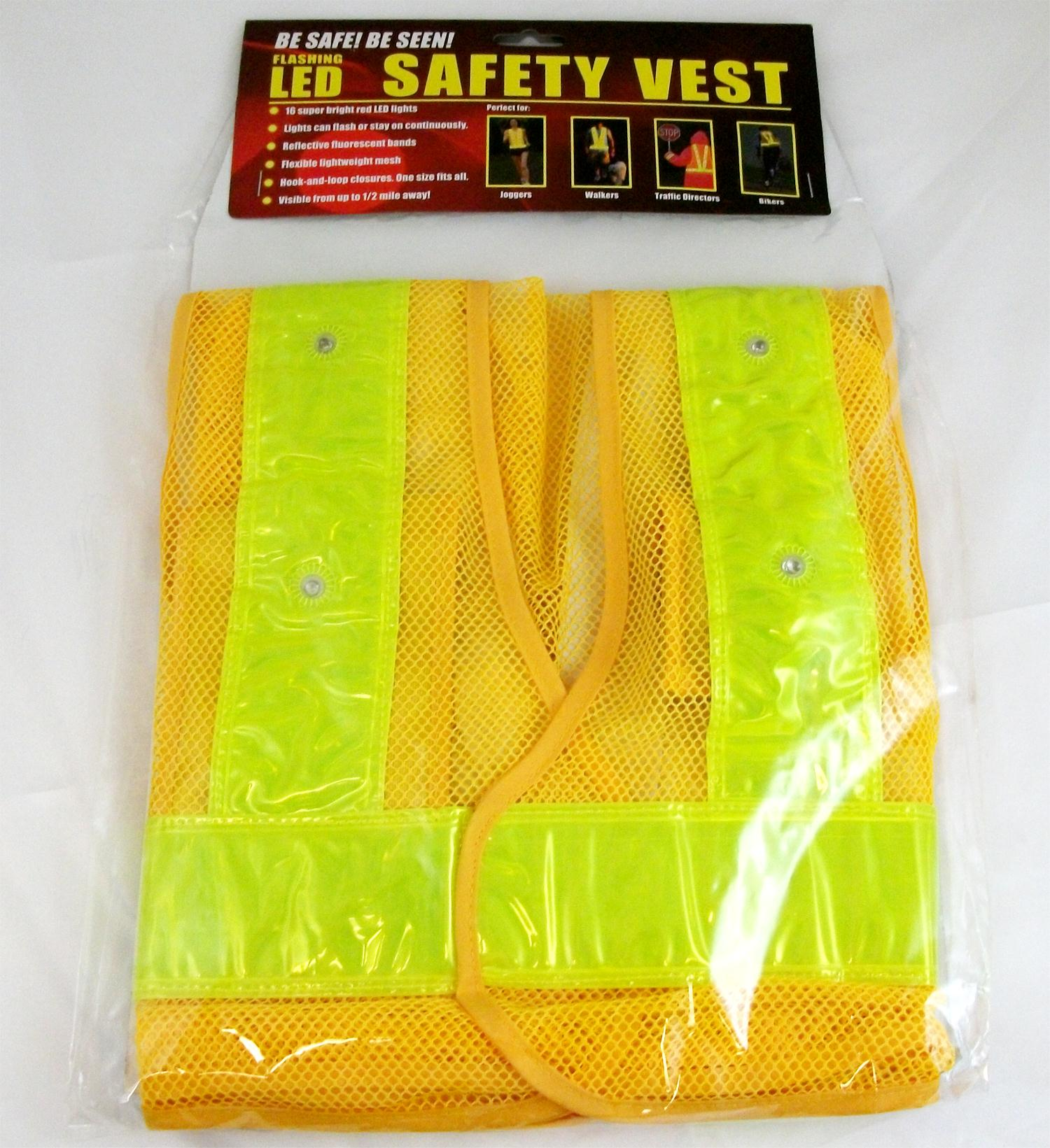 BSSN Reflective Safety Vest with 16 LED Light-Outdoors-Feeders, Scouting Cameras and