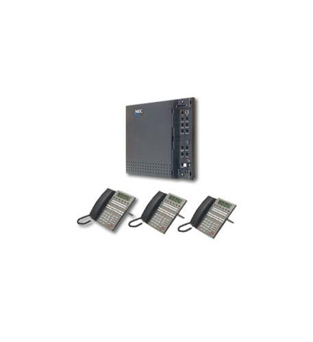 nec dsx systems kit dsx40 kit (4x8x2) w/ 3 telephones