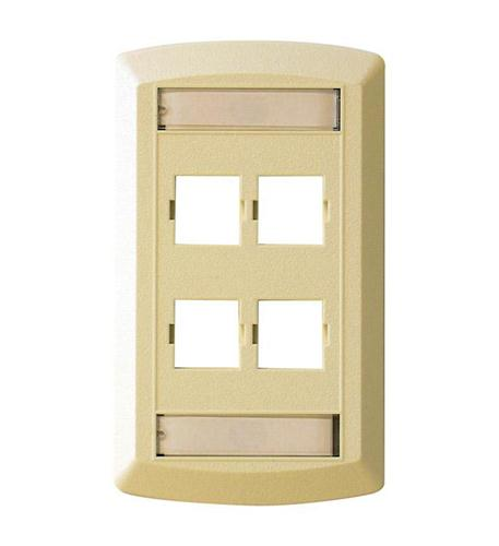 suttle 1 suttle 4 outlet faceplate - ivory