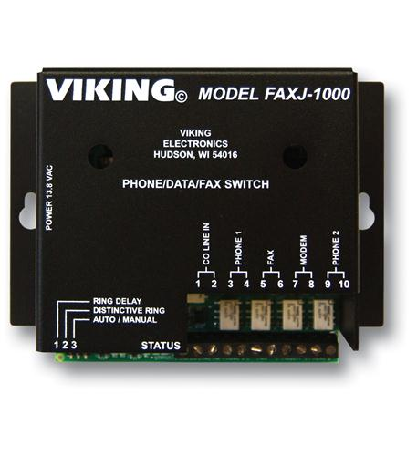 viking electronics faxjack phone/fax switch