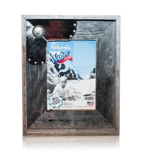 recherche furnishings cowhide frame cowboy cross 8x10