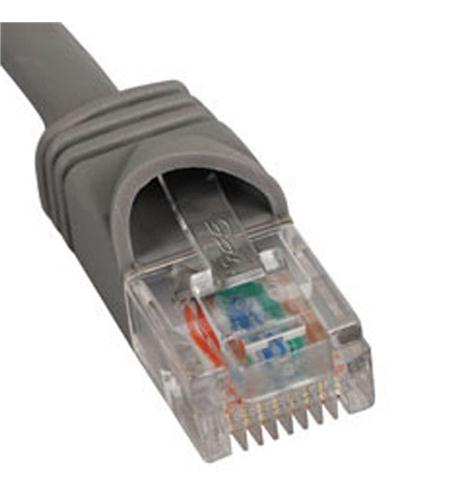 icc patch cord, cat 5e booted, 1 ft, gray