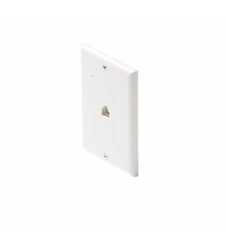 Steren 4c white decora tel plate
