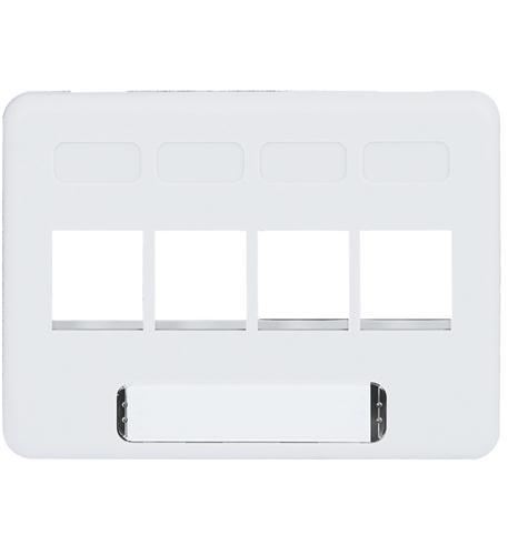 icc faceplate, furniture, nema, 4-port white