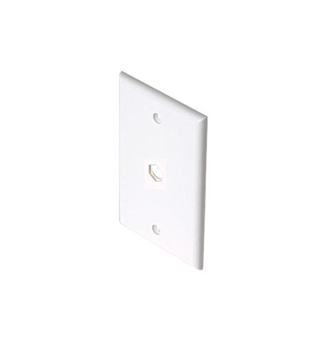 Steren tv white 1-hole wall plate
