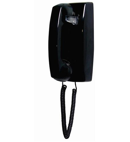 cortelco 255400-vba-ndl black wall no dial