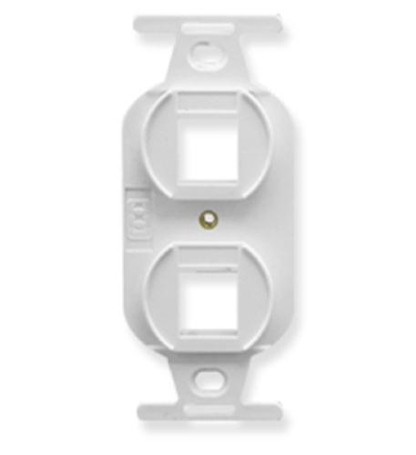 icc insert, electrical, 2-port, white