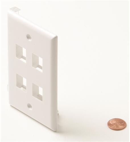 Steren 4-cavity white keystone plate
