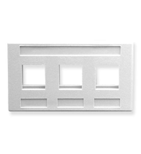 icc faceplate, furniture, 3-port, white