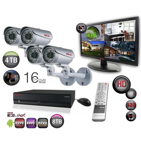 revo 16 ch. hd 4tb nvr surveillance system