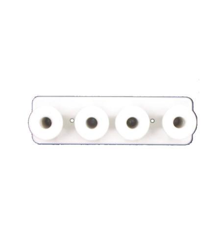 dynacom 1x4 metal mushroom board white