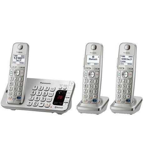 panasonic consumer dect 6.0, 3 handsets, advanced tad