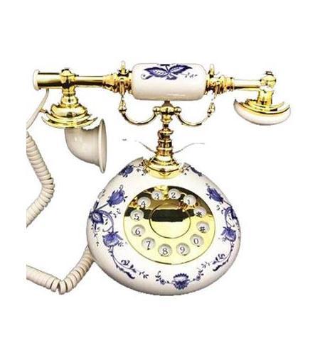 Golden Eagle 9005ht blue delft white porcelain phone