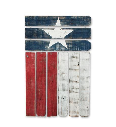 recherche furnishings reclaimed wood texas flag wall art