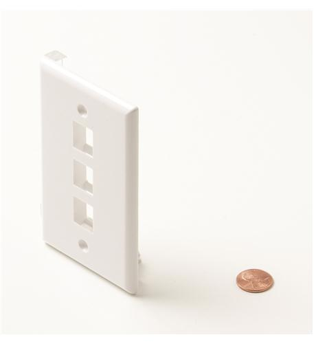 Steren 3-cavity white keystone plate