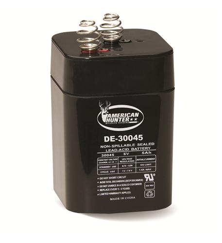 american hunter 6v 5a spring top rechargable battery