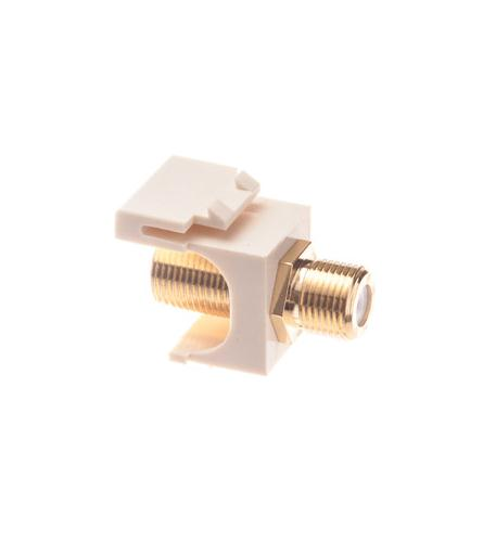 icc module, f-type, gold plated, almond