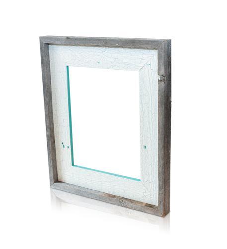 recherche furnishings 5x7 reclaimed wood frame crackled c