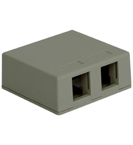 icc ic107sb2gy surface box 2pt gray