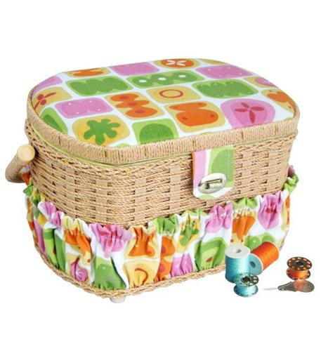 michley electronics sewing basket with 41-pc sewing kit